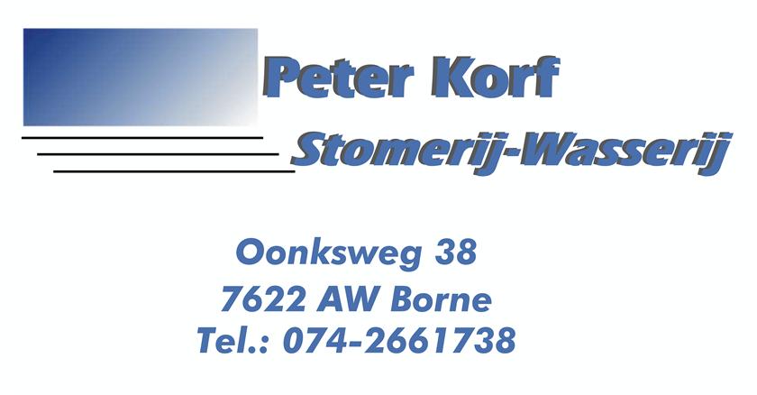 Stomerij Wasserij Peter Korf